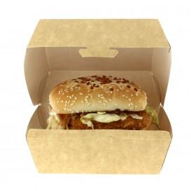 Scatola Kraft per Hamburger 12x12x7 cm (25 Pezzi)