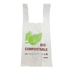 Sacchetto di Plastica Canottiera 100% Biodegradabile 35x45 cm (1000 Pezzi)